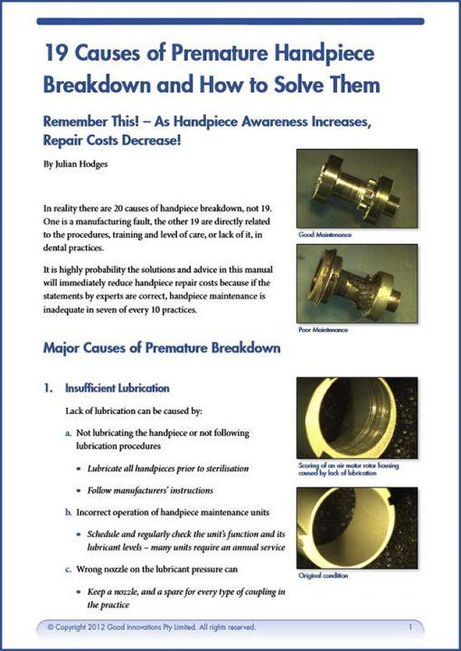 19 Causes of Handpiece Breakdown